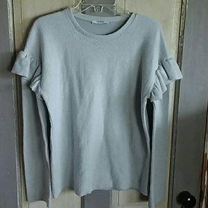 Zara Trafaluc cotton blend sweater gray